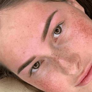 Powderbrows close up